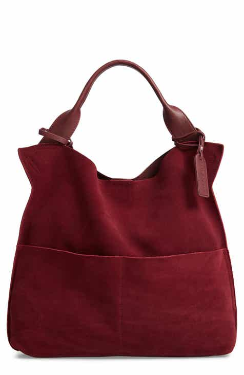 Sole Society Jamari Suede Faux Leather Tote