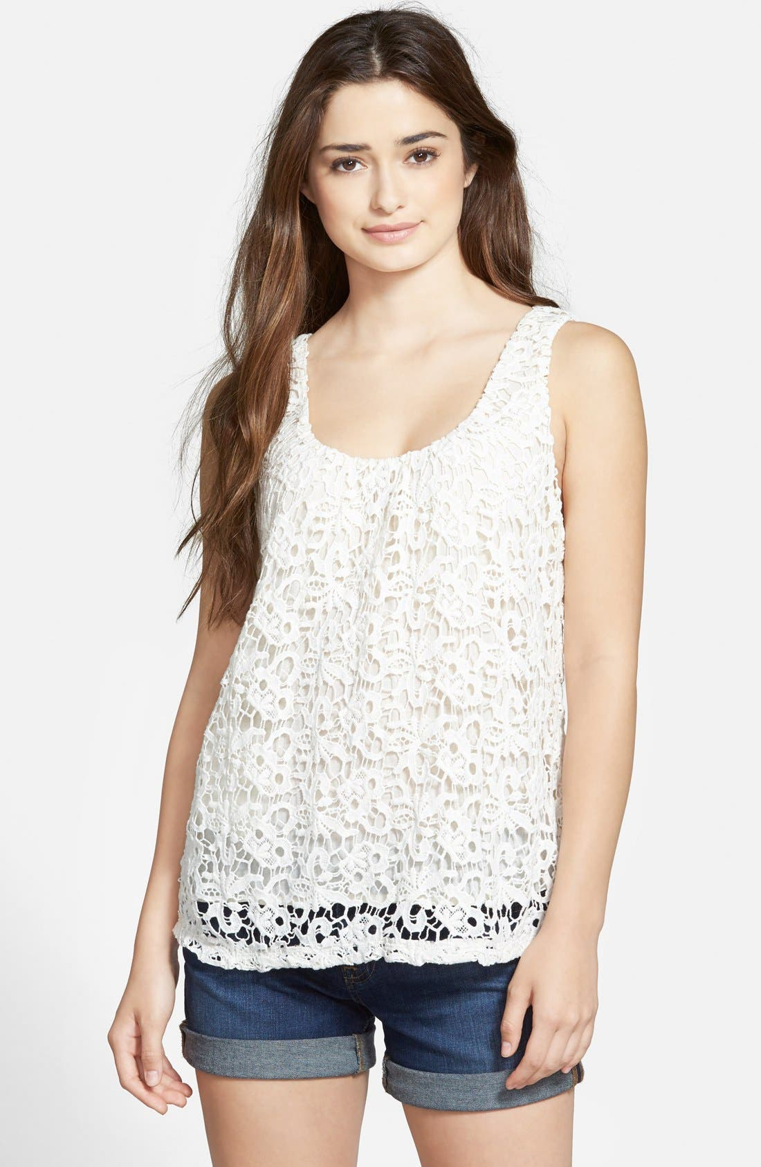 Alternate Image 1 Selected - Lucky Brand Lace Tank