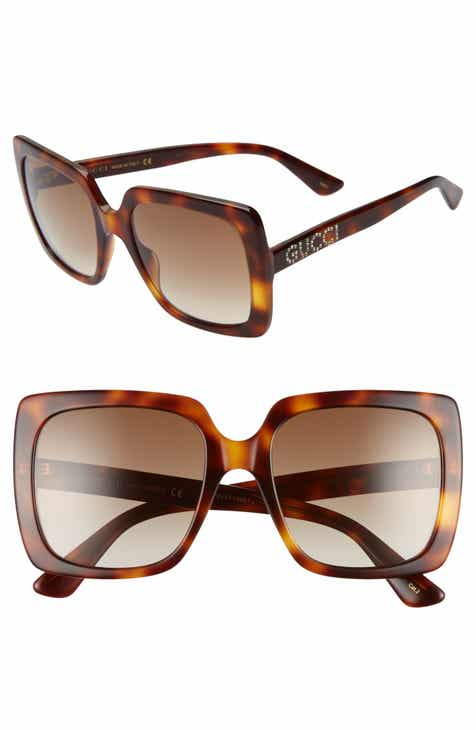 bbacb1f7745 Gucci 54mm Gradient Square Sunglasses.  450.00. Product Image. HAVANA   SOLID BROWN