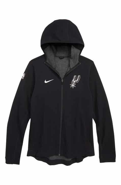 Nike San Antonio Spurs Showtime Dri-FIT Hoodie (Big Boys)