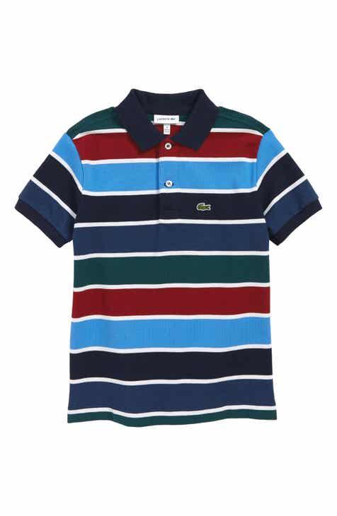 7f5f271bbb67e7 Lacoste Multicolor Stripe Piqué Polo (Toddler Boys   Little Boys)