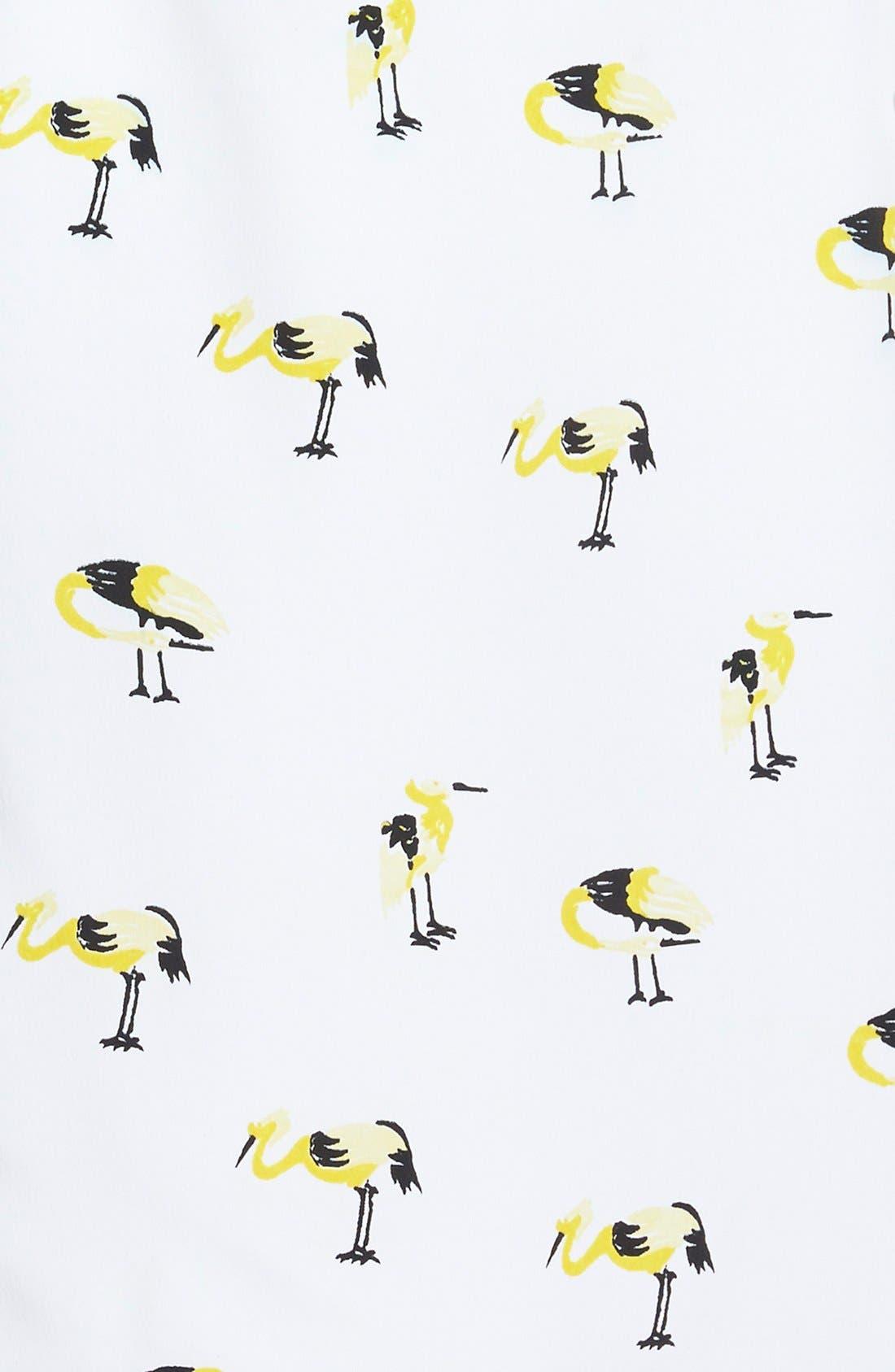 Alternate Image 3  - oat + fawn Bird Print Dress