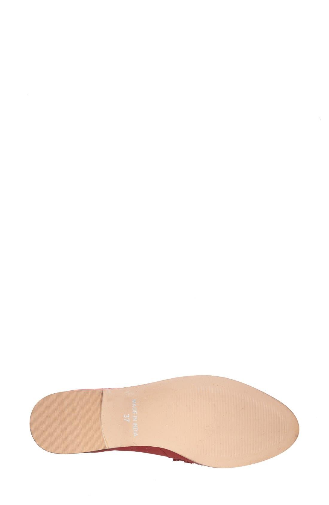 Alternate Image 4  - Topshop 'Kink' Fringed Leather Tassel Loafer (Women)