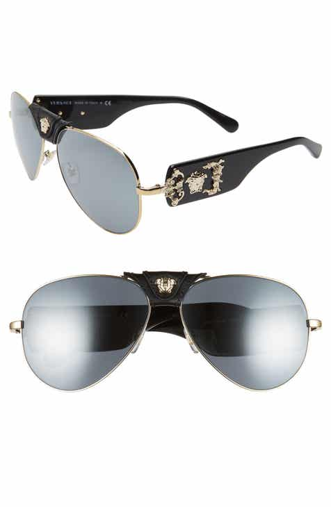 9ac8d70c61 Versace Medusa 62mm Aviator Sunglasses