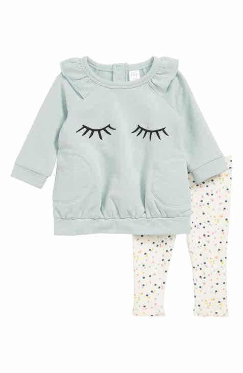 41d51c09ee61 Ensemble 3 pices en jersey and baby makes 3 Little girl fashion