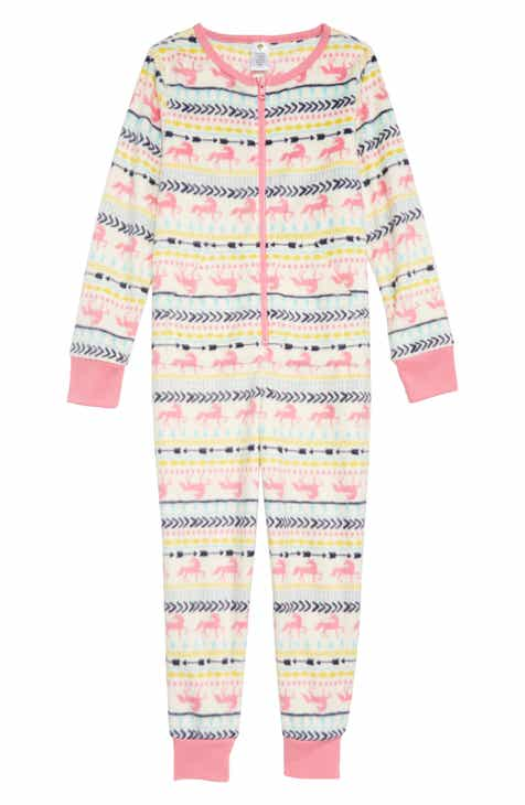 6286104c25 Tucker + Tate Cozy Print Fitted One-Piece Pajamas (Little Girls   Big Girls)