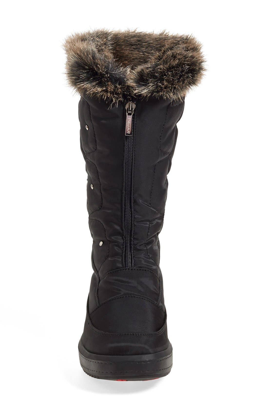 'Louise' Weatherproof Boot,                             Alternate thumbnail 3, color,                             Black Fabric