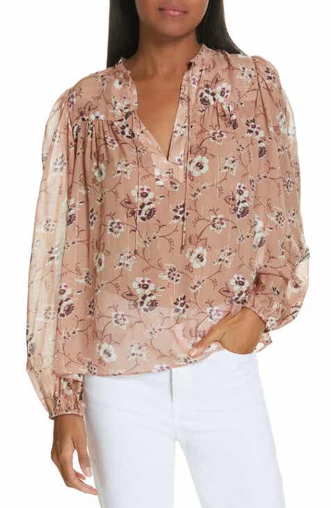 263ec364dff50 Ulla Johnson Constance Floral Print Silk Blend Blouse
