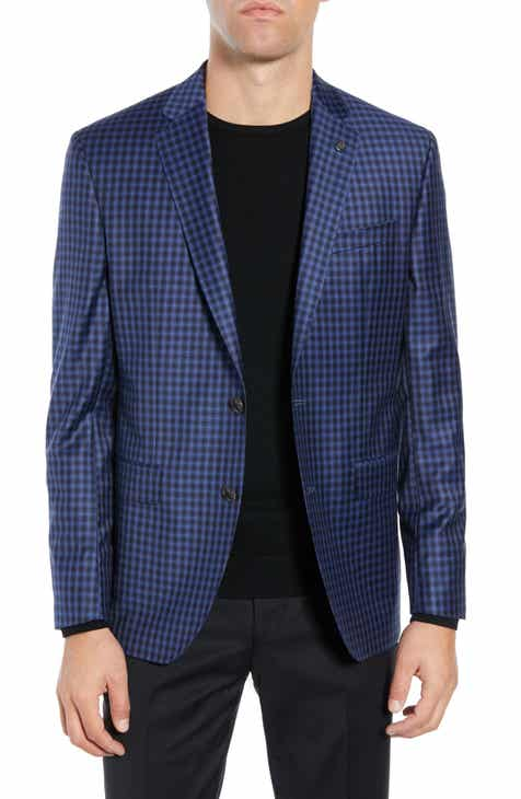 c2258fb13ed865 Ted Baker London Jay Trim Fit Check Wool Sport Coat