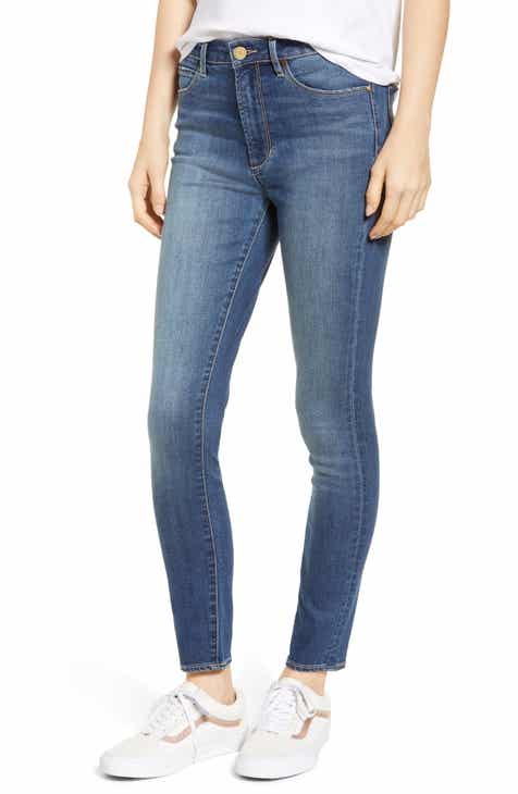 Madewell 9-Inch High Waist Skinny Jeans (Black Sea) by MADEWELL