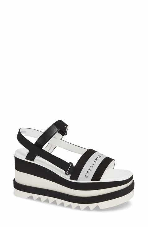 93855bfbc95 Stella McCartney Stripe Logo Platform Sandal (Women)