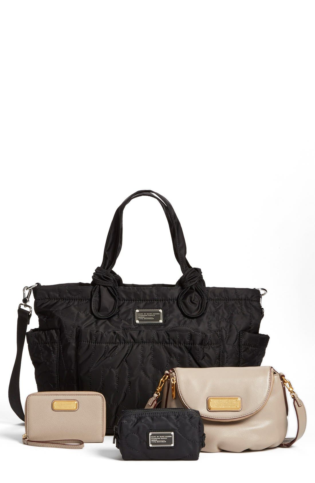 Alternate Image 5  - MARC BY MARC JACOBS 'Pretty Nylon Eliz-A-Baby' Diaper Bag