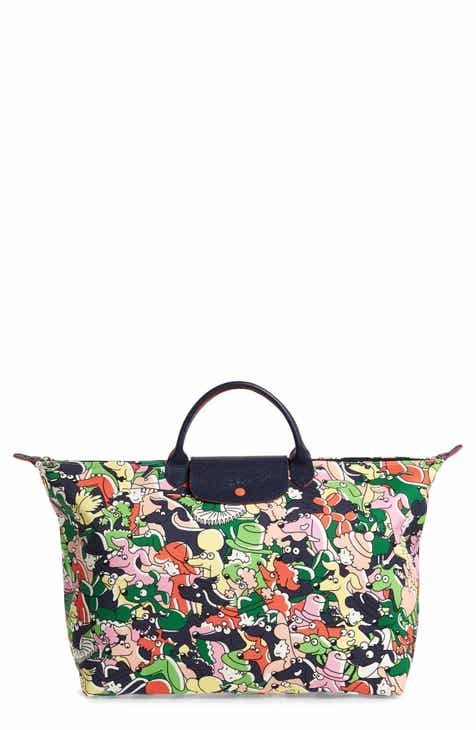98b3a64bcdf2 Longchamp x Clo e Floirat Le Pliage Illustration Numbered Limited Edition  Travel Bag