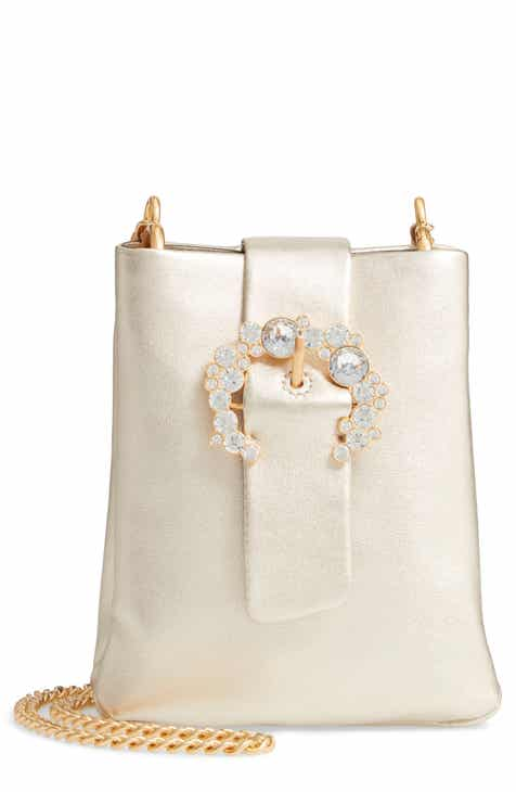 Tory Burch Greer Embellished Leather Smartphone Crossbody Bag 8f1fd31c76797