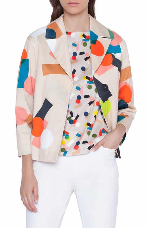 Akris punto Memphis Bell Air Print Jacket by AKRIS PUNTO