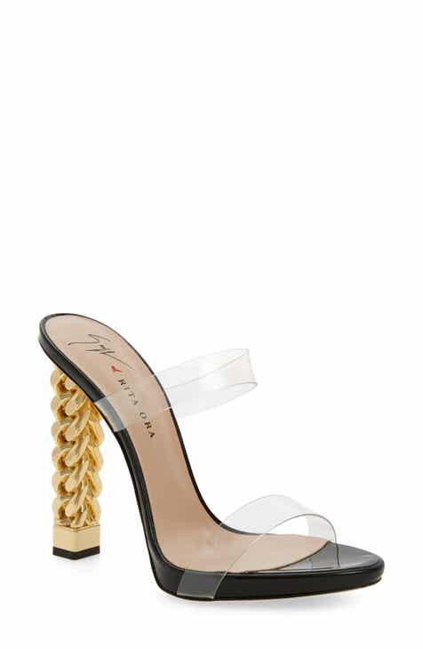 159c9143d9a2a Giuseppe Zanotti x Rita Ora Transparent Strap Sandal (Women)