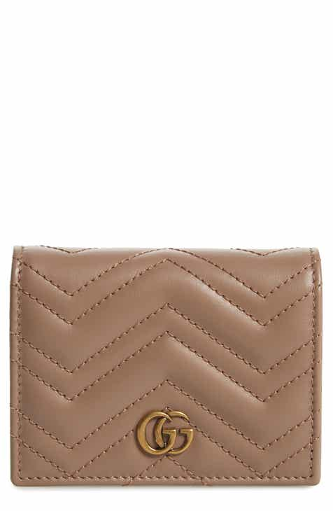 72839a57c6b Gucci GG Marmont 2.0 Matelassé Leather Card Case