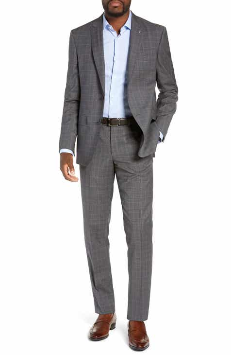 af2787354bba1e Ted Baker London Jay Trim Fit Plaid Wool Suit