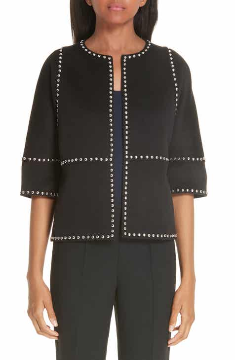 Michael Kors Cookie Studded Wool & Cashgora Jacket by MICHAEL KORS