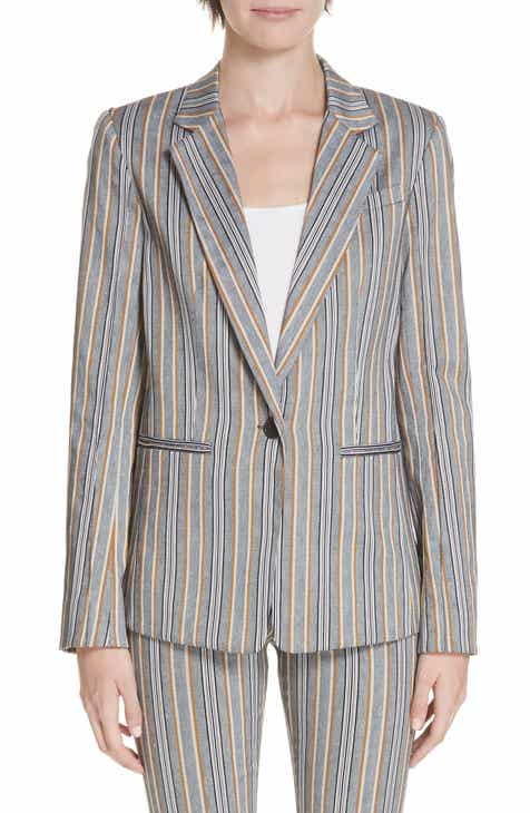 Derek Lam 10 Crosby Single Button Stretch Cotton Blazer by DEREK LAM 10 CROSBY