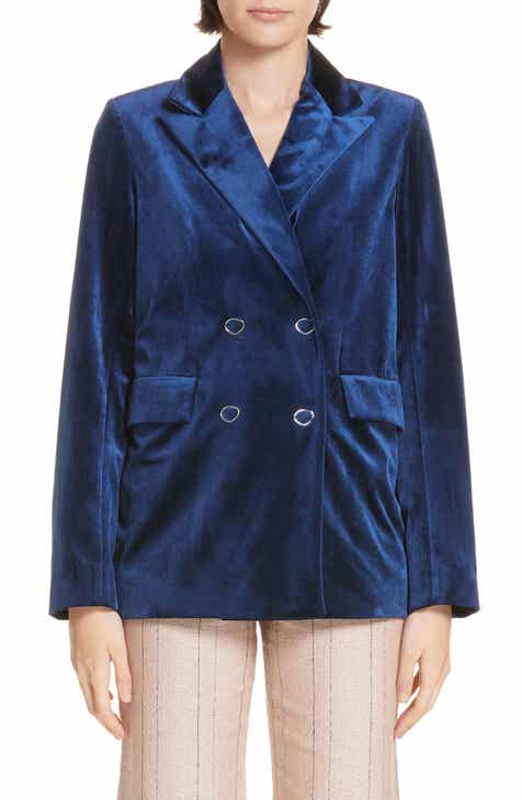 kate spade new york crop denim jacket by KATE SPADE NEW YORK