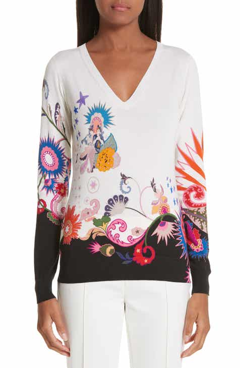 Etro Maiden Paisley Stretch Silk Sweater by ETRO