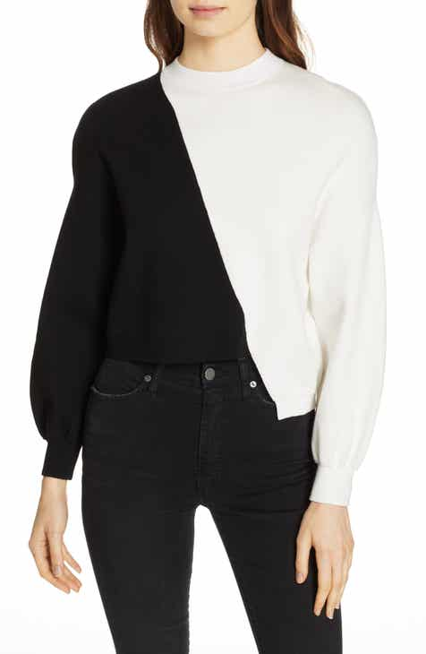 Alice + Olivia Elyse Asymmetrical Crop Pullover by ALICE AND OLIVIA