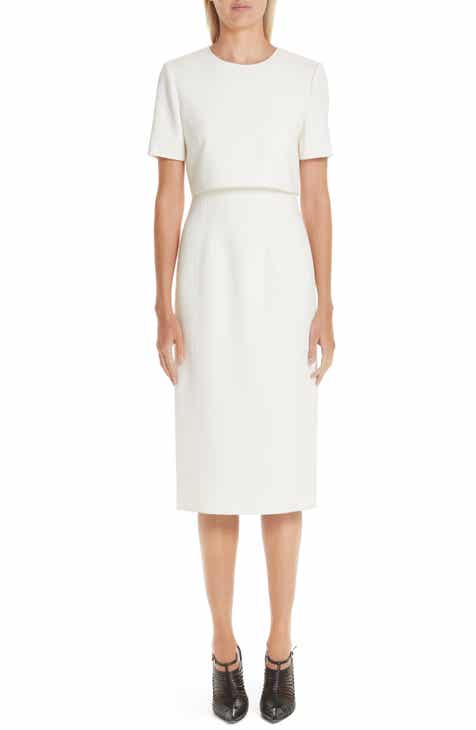 Jason Wu Collection Popover Compact Crepe Sheath Dress