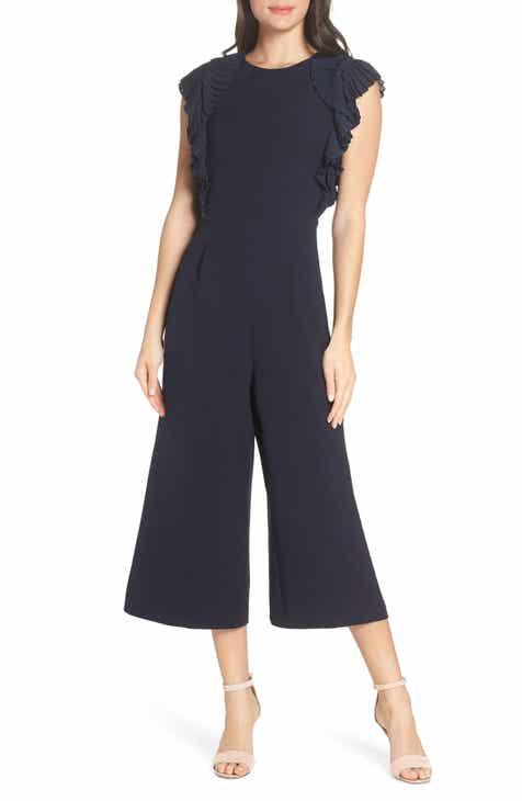 c7c1d1ca9a0 Chelsea28 Pleated Shoulder Crop Jumpsuit (Regular   Petite)