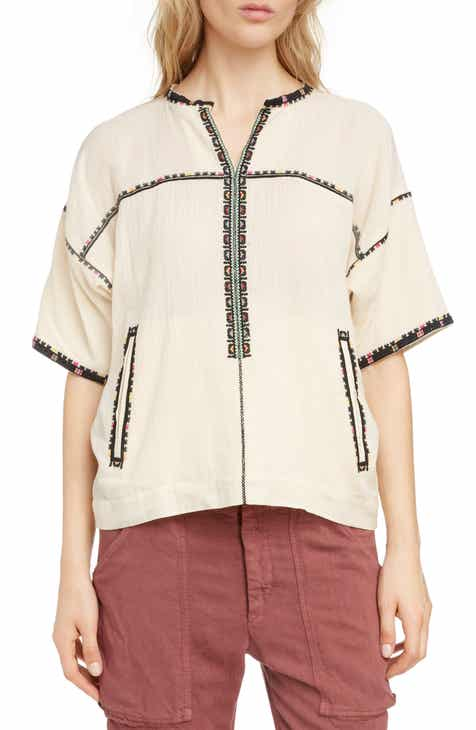 4763f6faed Isabel Marant Étoile Rikki Embroidered Top