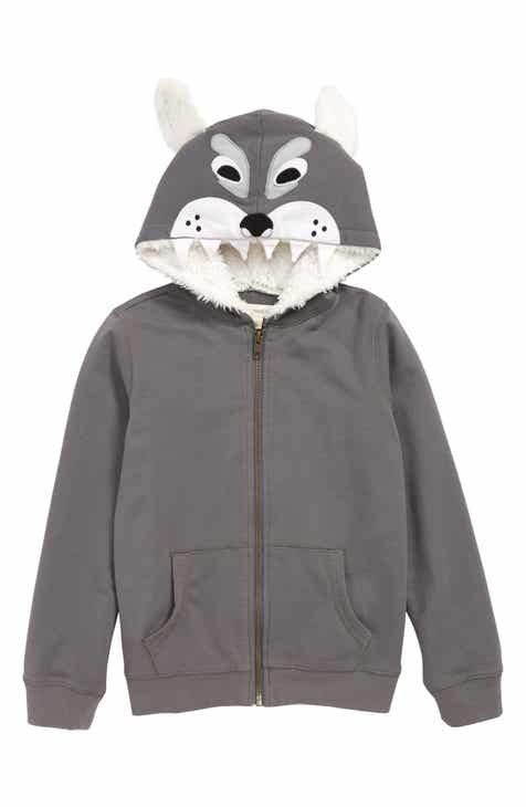 Tucker + Tate Animal Character Zip Hoodie (Toddler Boys 769014596