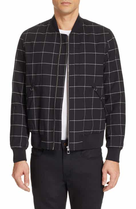 012c878e3f3 PS Paul Smith Grid Wool Blend Bomber Jacket