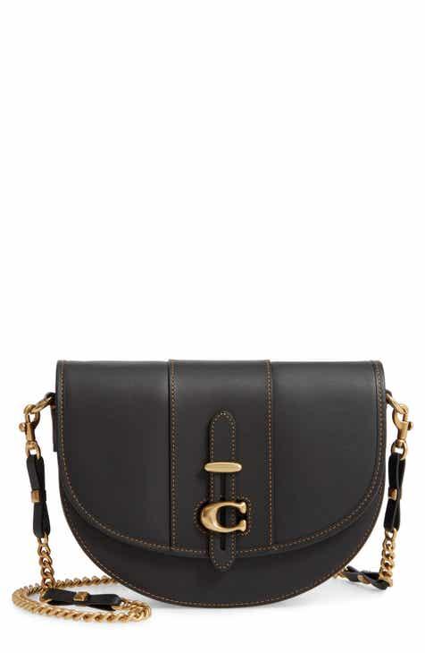Coach Saddle 20 Signature Jacquard Leather Crossbody Bag