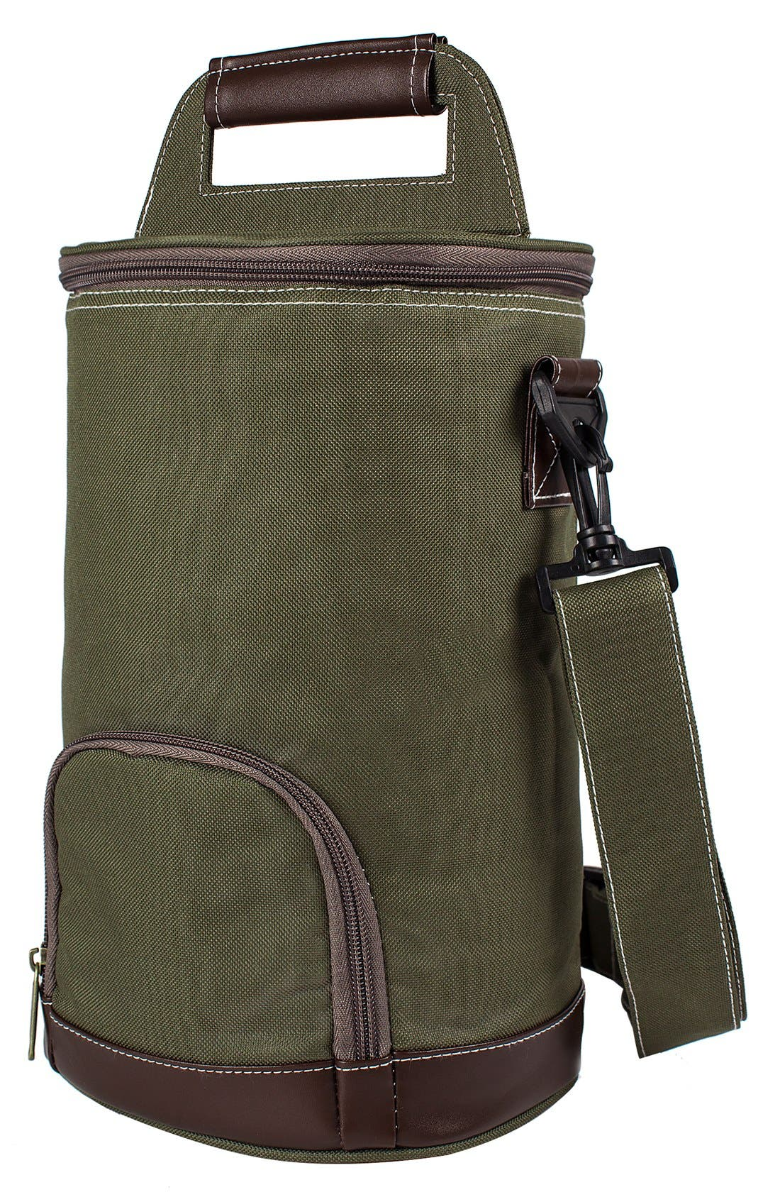 Monogram Insulated Growler Cooler,                         Main,                         color, Green - Blank