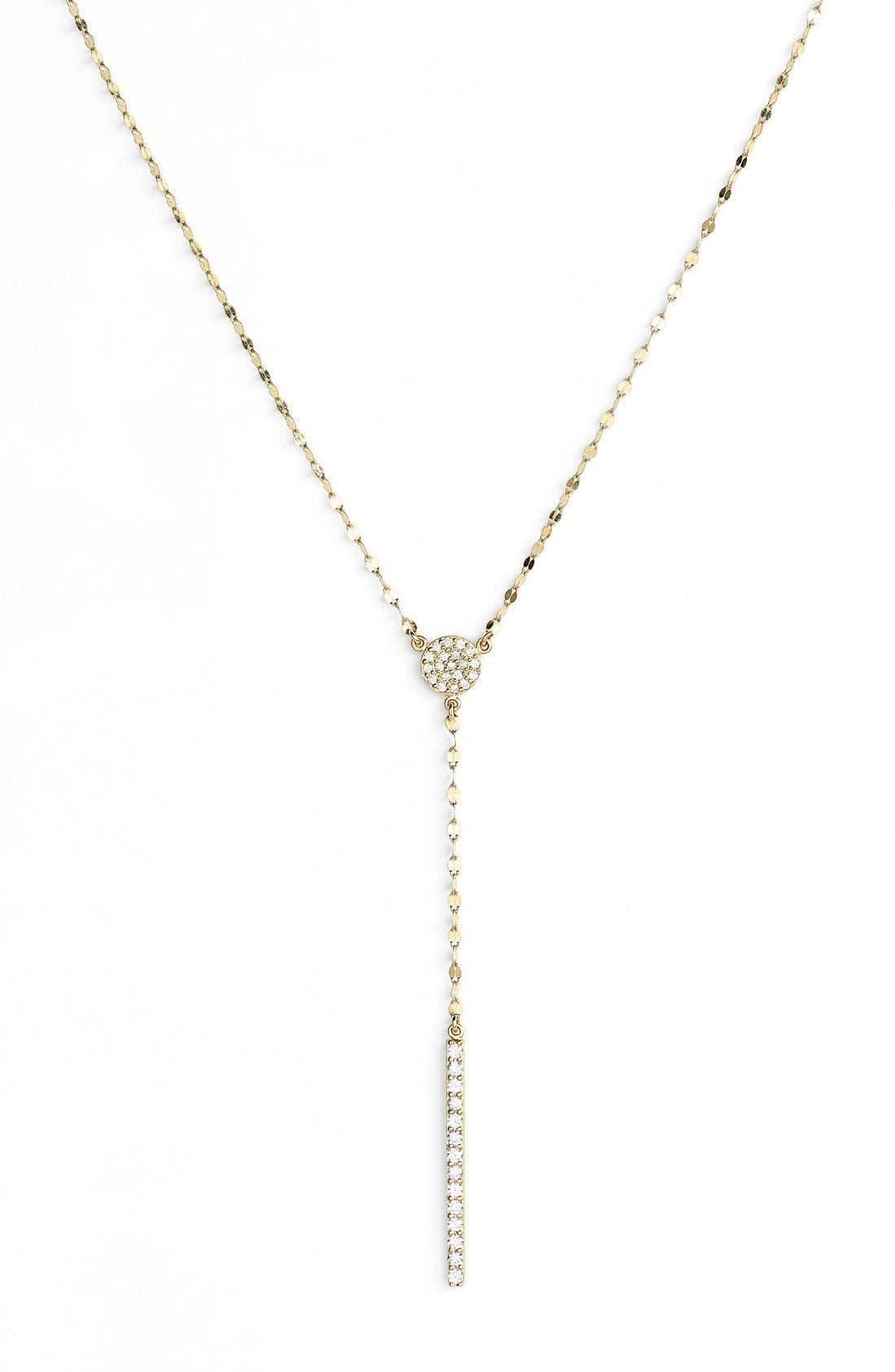 LANA JEWELRY 'MIRAGE - GYPSY' DIAMOND Y-NECKLACE