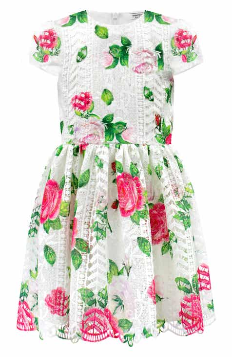 40730925c4b3 David Charles Floral Lace Fit   Flare Dress (Toddler Girls   Little Girls)