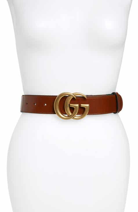 6e043cf1d2ed Gucci GG Logo Leather Belt