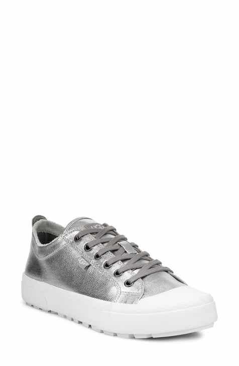 d6a32e59d7e0 Metallic Lace-Up Sneakers for Women