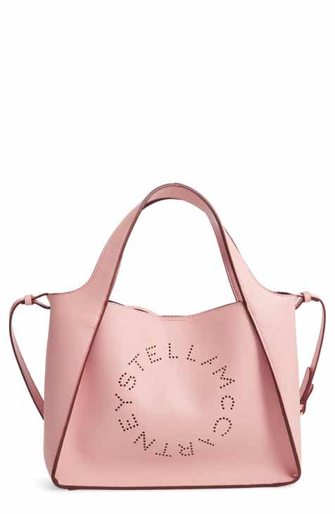 25917a6d0990 Stella McCartney Perforated Logo Faux Leather Satchel