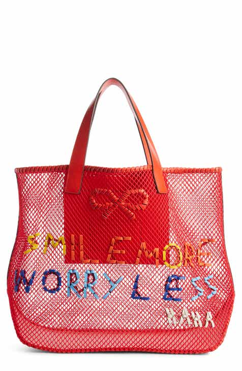 acc635a45d67 Anya Hindmarch Smile More Mesh Tote