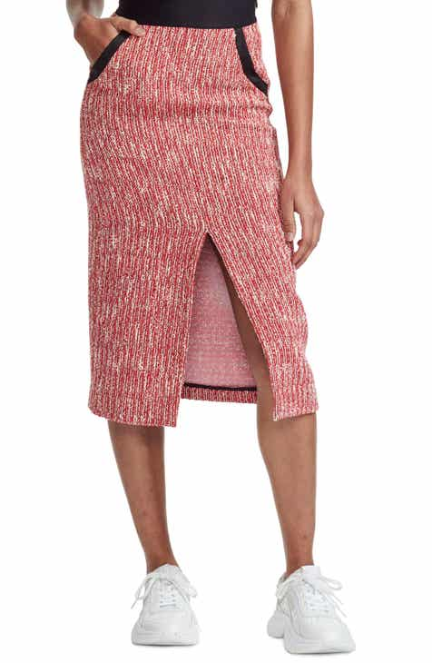 maje Jivor Tweed Pencil Skirt by MAJE