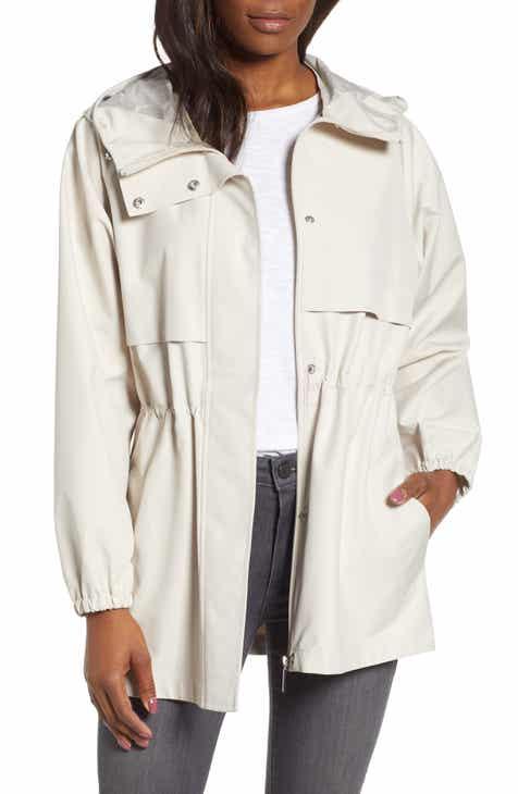 a6b29ec500b Bernardo Micro Breathable Oversize Hooded Jacket