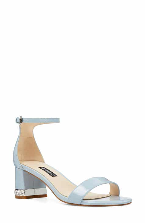 bd91605072a2 Nine West Hazel Crystal Embellished Ankle Strap Sandal (Women)
