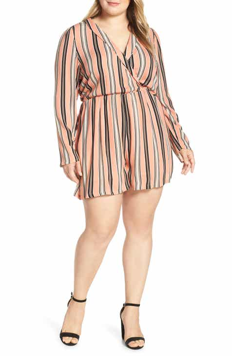 Leith Shawl Collar Romper (Plus Size) by LEITH