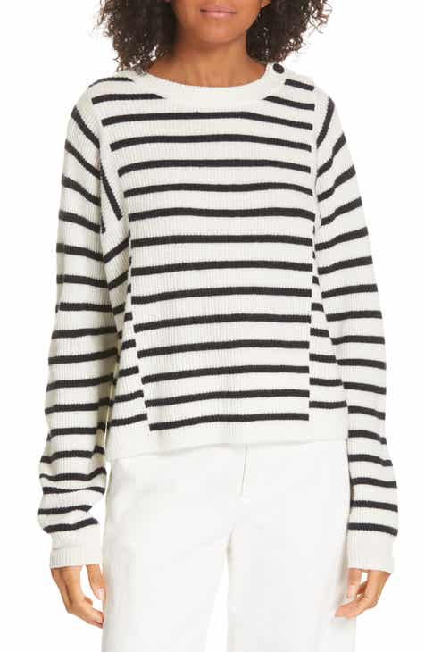 Milly Tie Front Balloon Sleeve Sweater by MILLY