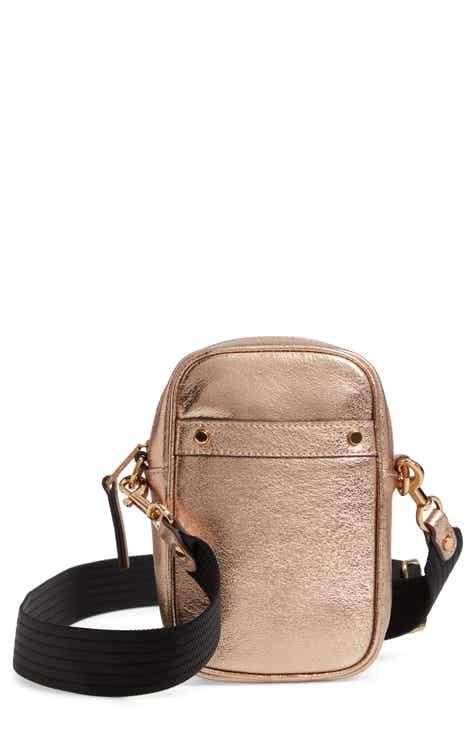 664a84f2ecfa Treasure   Bond Murphy Metallic Leather Crossbody Bag