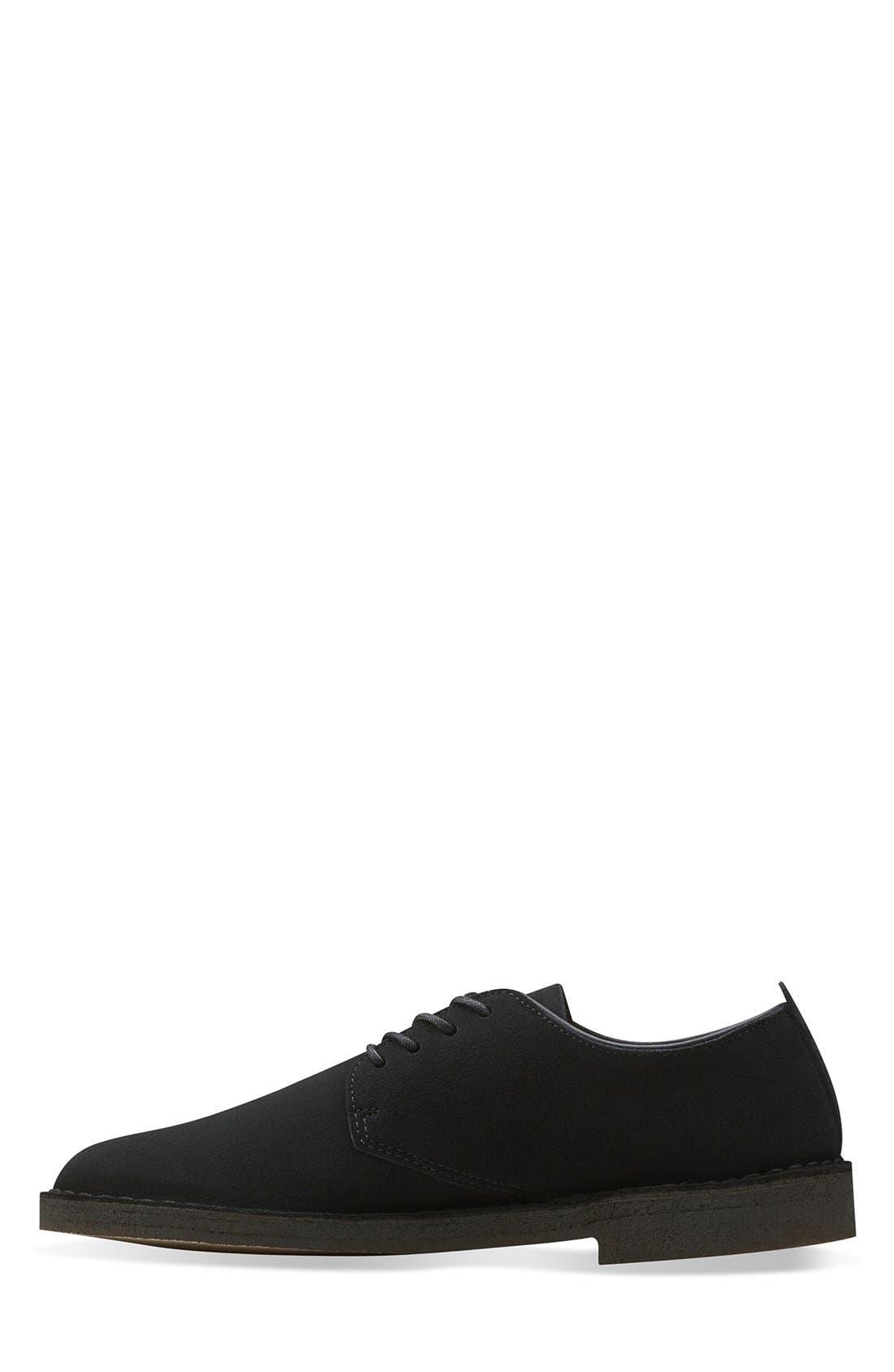 Clarks<sup>®</sup> 'Desert London' Plain Toe Derby,                             Alternate thumbnail 2, color,                             Black Suede