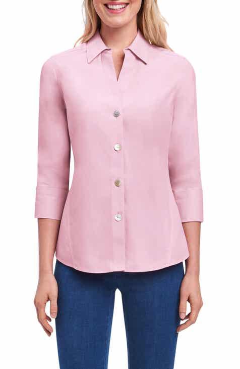 9e8324c3268 Foxcroft Paityn Non-Iron Cotton Shirt (Regular   Petite)