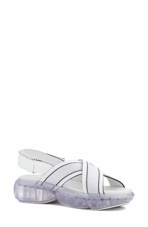 6e03a19c816394 Prada Logo Clear Sole Sandal (Women)