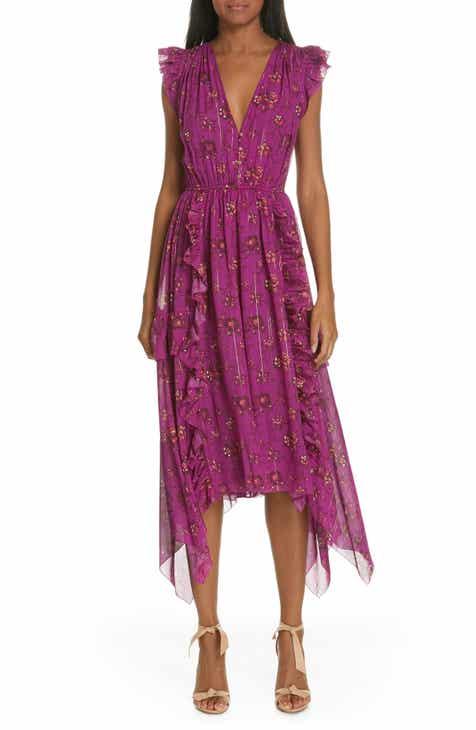 2bffb953cded Ulla Johnson Ciel Floral Print Silk Blend Dress